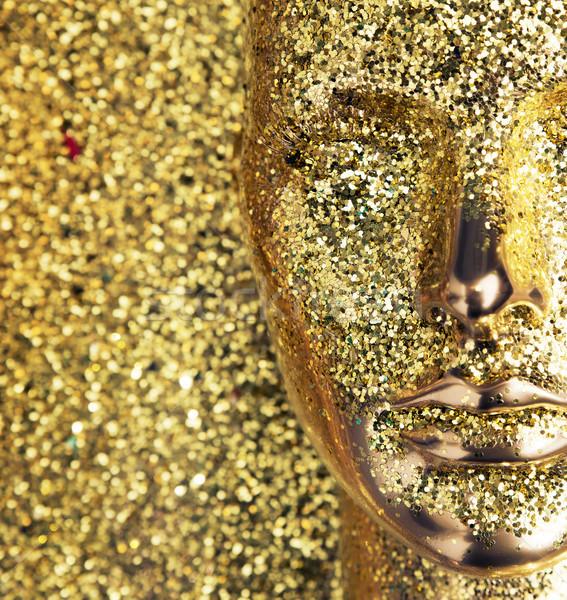 Glittering, golden head of a mannequin Stock photo © konradbak