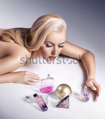 Természetes egészség szépség női arc csinos nő arc Stock fotó © konradbak