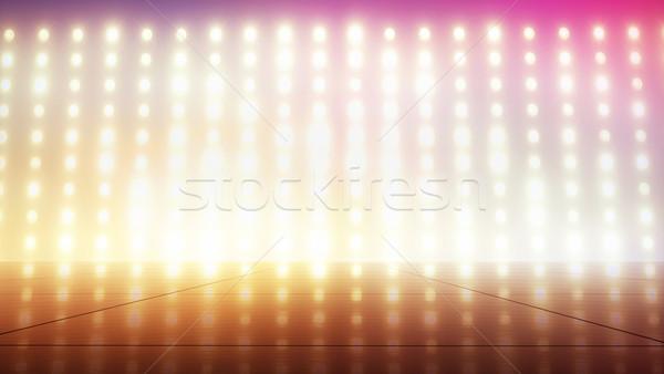 Minuscolo colorato lampadine luce design arancione Foto d'archivio © konradbak