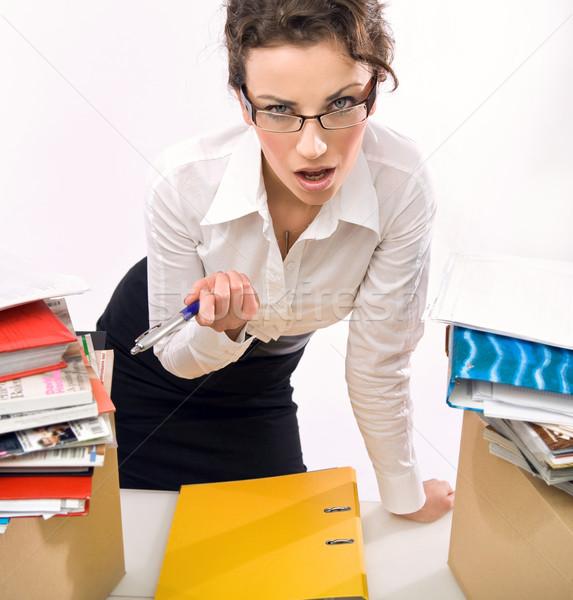 Angry businesswoman  Stock photo © konradbak