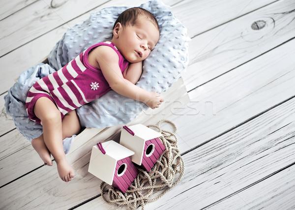 Portre sevimli küçük bebek Stok fotoğraf © konradbak