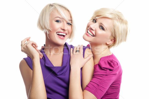 Zdjęcia stock: Atrakcyjny · uśmiechnięty · kobieta · dziewczyna · uśmiech