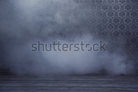 Mysterious room filled with dense smoke Stock photo © konradbak