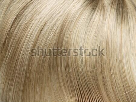 Zdjęcie prosto długo blond włosy Zdjęcia stock © konradbak