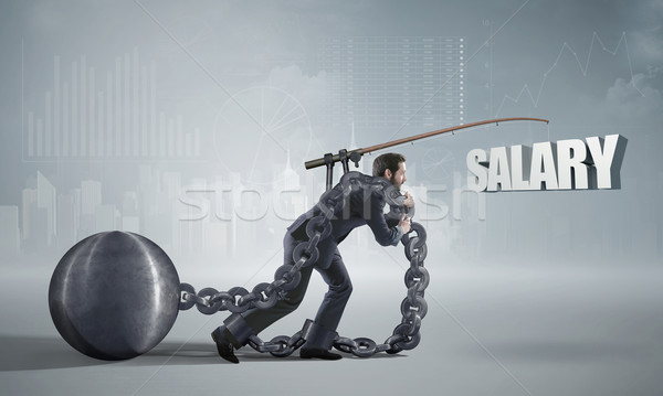 Stockfoto: Foto · werknemer · business · geld · man · werk