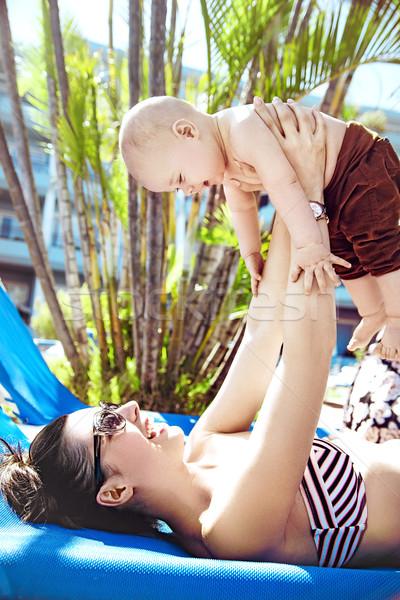 Attrattivo madre amato figlio cute Foto d'archivio © konradbak