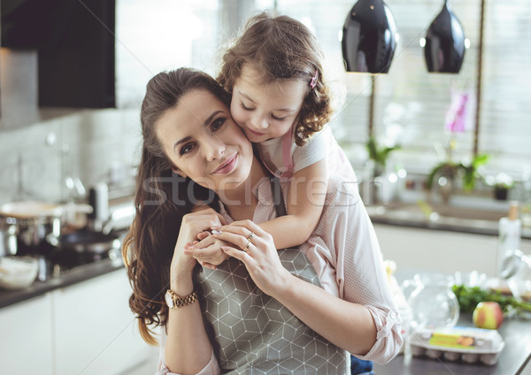 Ritratto cute figlia madre amato Foto d'archivio © konradbak