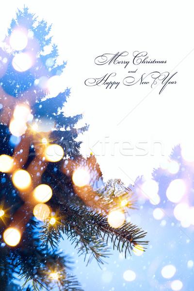 Zdjęcia stock: Sztuki · christmas · wakacje · drzewo · świetle