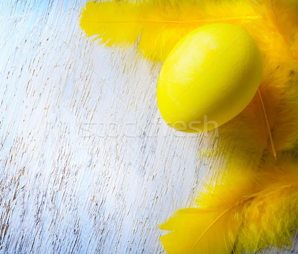 Stock fotó: Kellemes · húsvétot · művészet · szeretet · fa · tojás · háttér