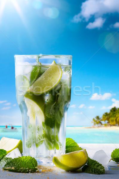 Zomervakantie exotisch dranken Blur tropisch strand Stockfoto © Konstanttin