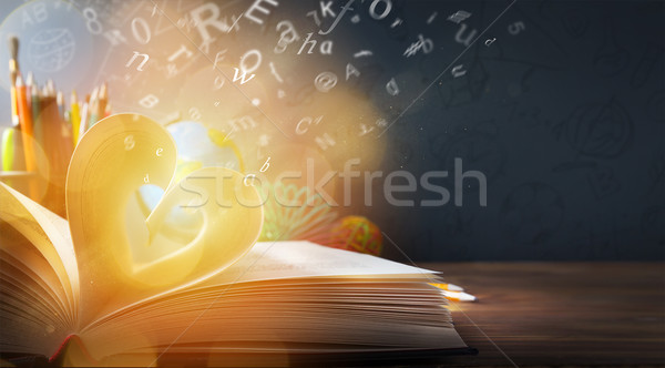 Stock photo: art back to School background; discovery education