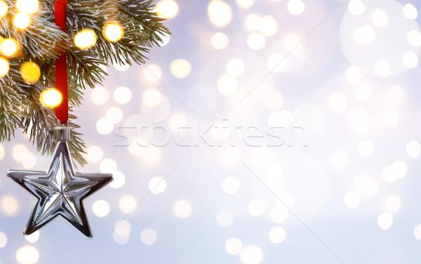 Művészet karácsony ünnep fa fény buli Stock fotó © Konstanttin