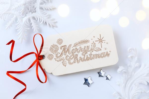art Christmas holidays sale; tree light background Stock photo © Konstanttin