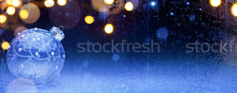Művészet kék karácsony ünnepek karácsony dekoráció Stock fotó © Konstanttin