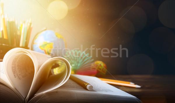 Art welcome Back To School Banner Stock photo © Konstanttin