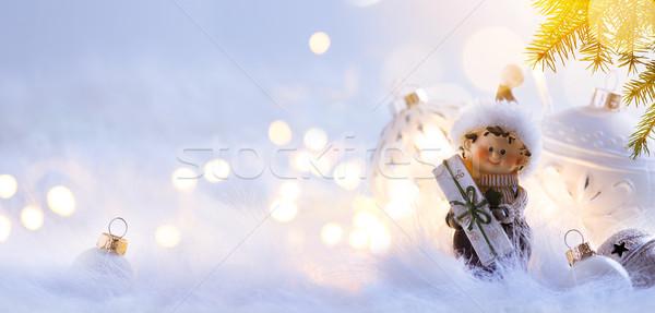ストックフォト: クリスマス · 休日 · 水色 · 警官 · コピースペース · 青