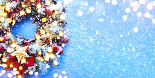 Foto stock: Arte · natal · árvore · de · natal · luz · árvore · festa