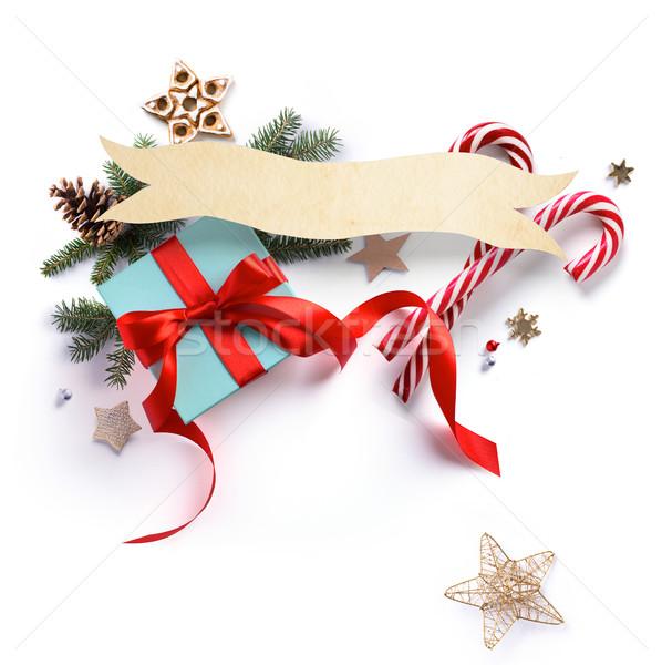 Navidad vacaciones decoración dulce regalo Foto stock © Konstanttin