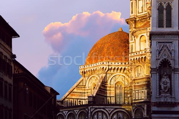 Sanat İtalya kubbe Floransa katedral Stok fotoğraf © Konstanttin