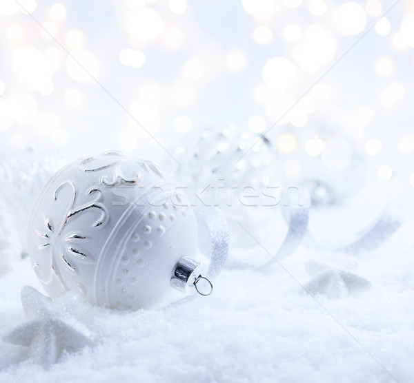 Foto stock: Arte · natal · decoração · férias · luz · neve