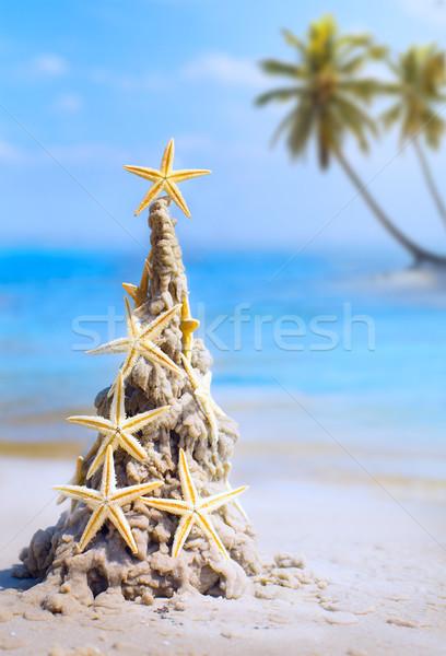 Arte tropical natal férias caribbean férias Foto stock © Konstanttin
