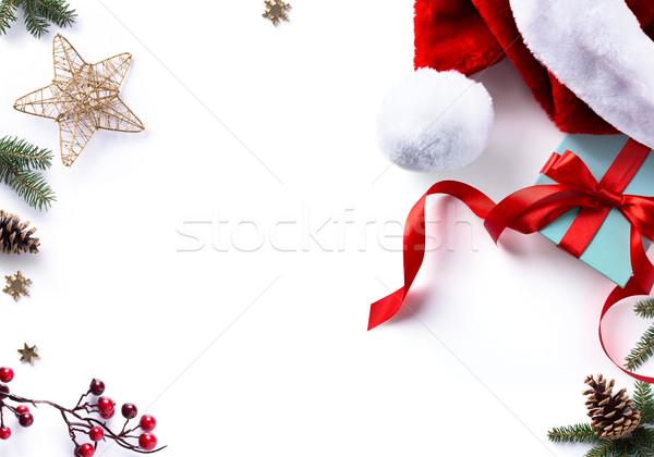 Karácsony ajándék díszítések ünnepek édes fehér Stock fotó © Konstanttin