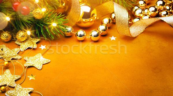 Művészet karácsony ünnepek buli díszítések fa Stock fotó © Konstanttin