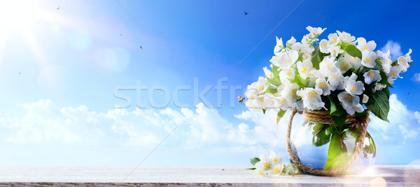 spring flowers a blue sky background;  Spring or summer Nature b Stock photo © Konstanttin