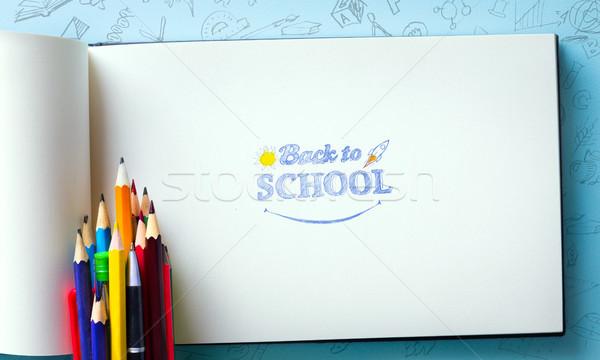 Art welcome Back To School  Stock photo © Konstanttin