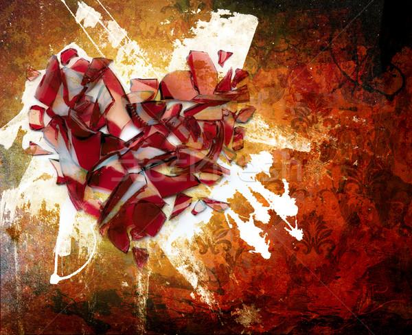 Arte abstracción ornamento mancha pintura amor Foto stock © Konstanttin