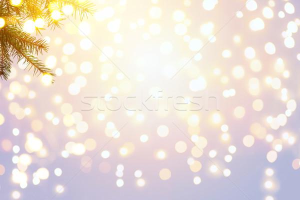 Karácsonyfa ünnepek fény égbolt buli boldog Stock fotó © Konstanttin