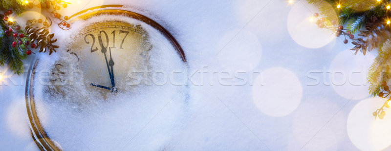 art Christmas and happy new years eve background; 2017 Stock photo © Konstanttin
