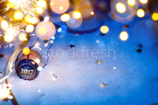 art Christmas and 2017 New year party background Stock photo © Konstanttin