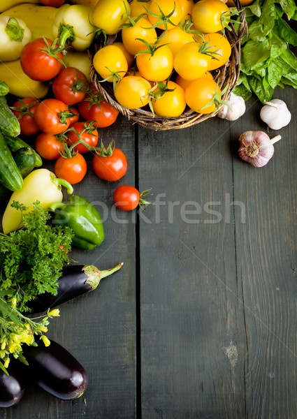 abstract design vegetables background Stock photo © Konstanttin