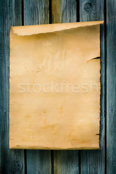 art Western style sign Old paper and wood Stock photo © Konstanttin