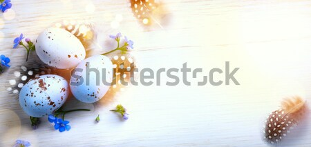 Happy Easter day; Holidays background with Easter eggs and sprin Stock photo © Konstanttin