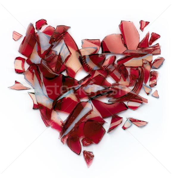 Złamane serce sztuki miłości serca życia cegły Zdjęcia stock © Konstanttin