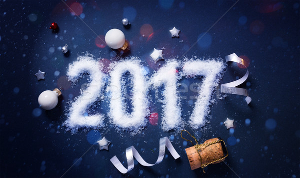 art Merry Christmas and 2017 Happy New Year eve; Party backgroun Stock photo © Konstanttin