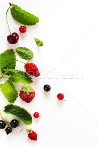 sweet summer fresh juice fruit background; summer food Stock photo © Konstanttin
