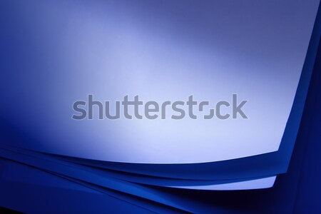 art stack of paper in the dark lighting beacon of light Stock photo © Konstanttin