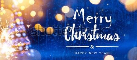 Művészet karácsony karácsonyfa ünnepek dísz kék Stock fotó © Konstanttin