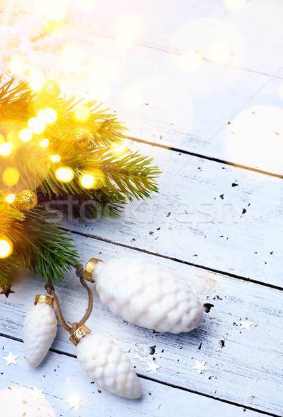 Foto stock: Brilhante · natal · férias · árvore · decoração