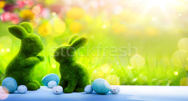 Arte · buona pasqua giorno famiglia coniglio