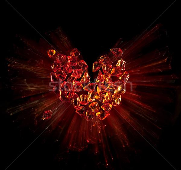 art heart broken into pieces Stock photo © Konstanttin