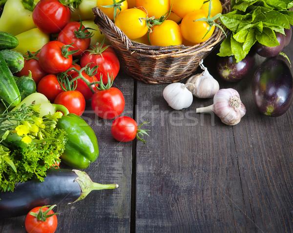 Gospodarstwa świeże warzywa owoce Zdjęcia stock © Konstanttin