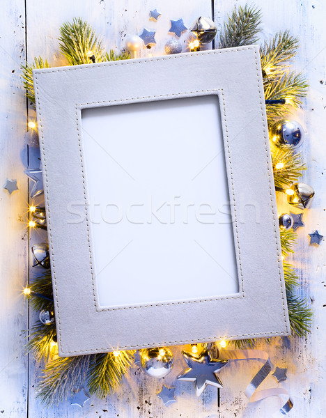 Művészet karácsony ünnepek dekoráció divat fény Stock fotó © Konstanttin