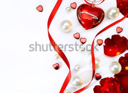 Kunst seksueel wenskaart gelukkig Valentijn hart Stockfoto © Konstanttin