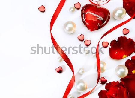 Arte sexual tarjeta de felicitación feliz San Valentín corazón Foto stock © Konstanttin