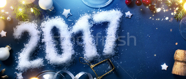 art 2017 happy new years eve; Patry background; Top view with co Stock photo © Konstanttin