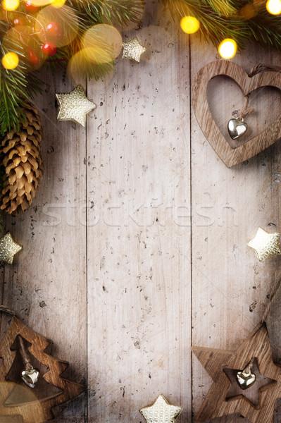 Sztuki christmas dekoracje Zdjęcia stock © Konstanttin